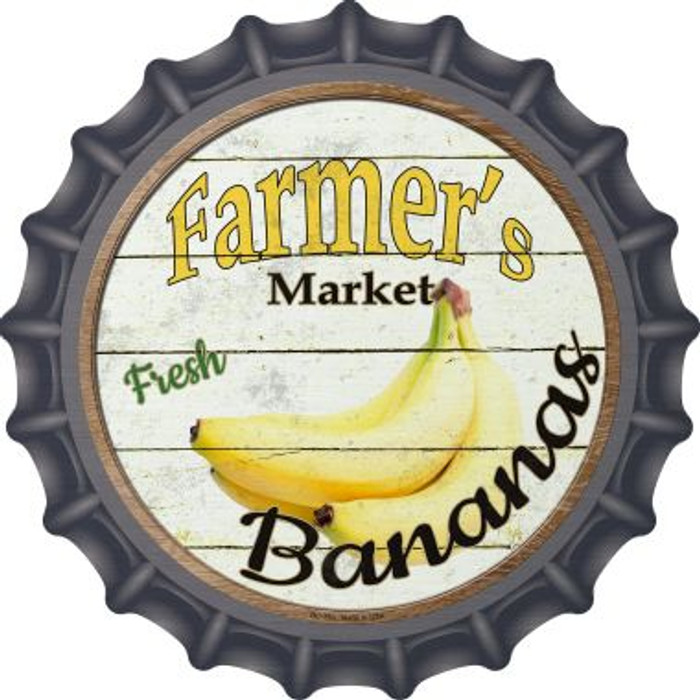 Farmers Market Bananas Wholesale Novelty Metal Bottle Cap BC-760