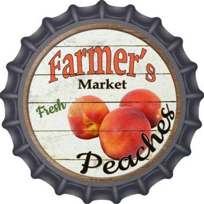 Farmers Market Peaches Wholesale Novelty Metal Bottle Cap BC-765