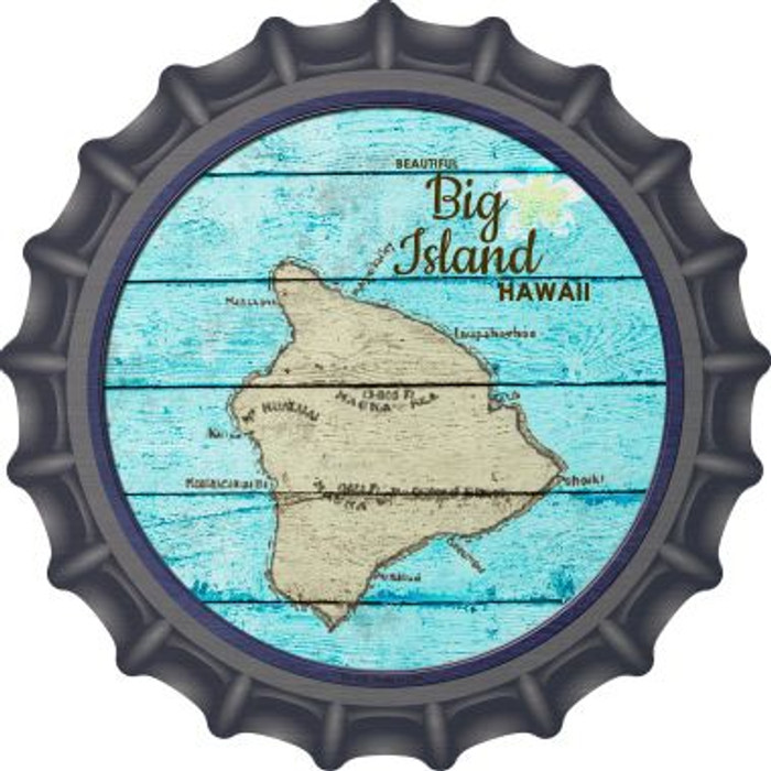 Big Island Hawaii Map Wholesale Novelty Metal Bottle Cap BC-818