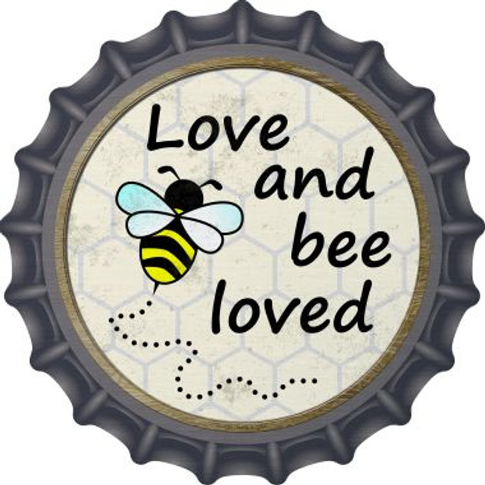 Love and Bee Loved Wholesale Novelty Metal Bottle Cap BC-826