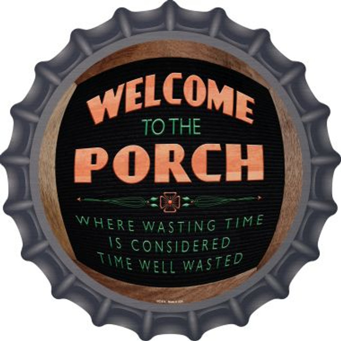 Welcome to the Porch Wholesale Novelty Metal Bottle Cap BC-974