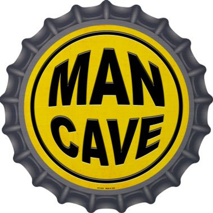 Man Cave Wholesale Novelty Metal Bottle Cap BC-1010