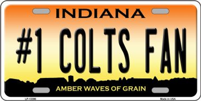 Number 1 Colts Fan Wholesale Novelty Metal License Plate Tag LP-13396