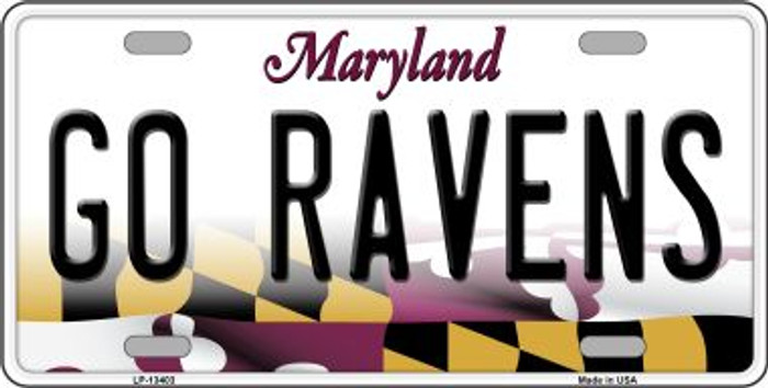 Go Ravens Wholesale Novelty Metal License Plate Tag LP-13403
