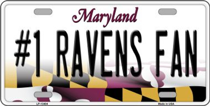 Number 1 Ravens Fan Wholesale Novelty Metal License Plate Tag LP-13404