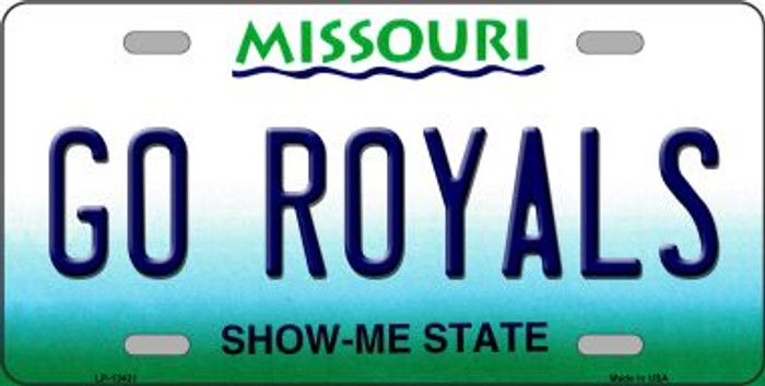 Go Royals Wholesale Novelty Metal License Plate Tag LP-13431