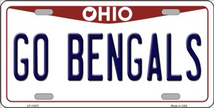 Go Bengals Wholesale Novelty Metal License Plate Tag LP-13473
