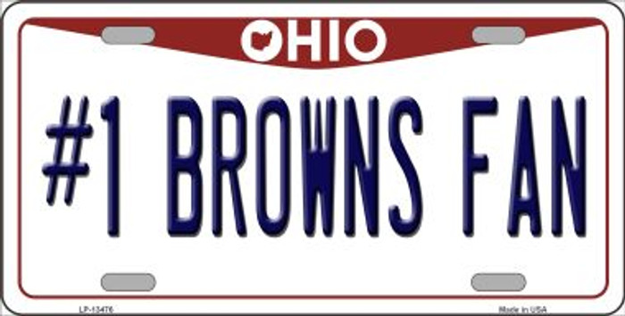 Number 1 Browns Fan Wholesale Novelty Metal License Plate Tag LP-13476