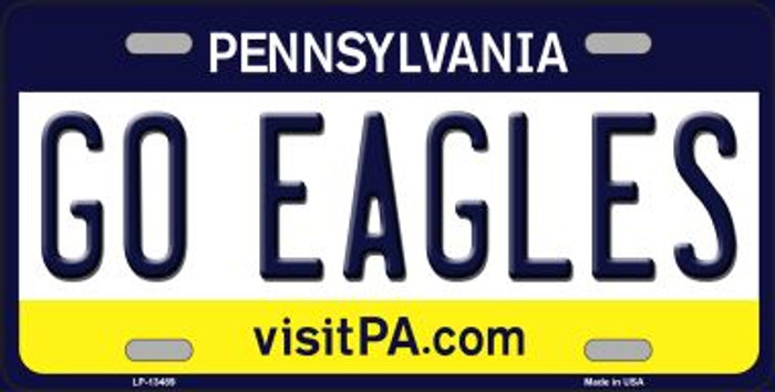 Go Eagles Wholesale Novelty Metal License Plate Tag LP-13489