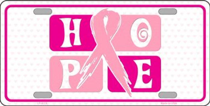 Hope Breast Cancer Ribbon Novelty Wholesale Metal License Plate