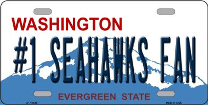 Number 1 Seahawks Fan Wholesale Novelty Metal License Plate Tag LP-13526