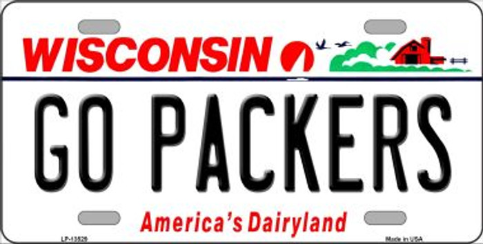 Go Packers Wholesale Novelty Metal License Plate Tag LP-13529