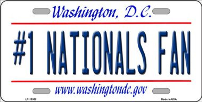 Number 1 Nationals Fan Wholesale Novelty Metal License Plate Tag LP-13538
