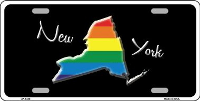 New York Rainbow Wholesale Metal Novelty License Plate LP-6346