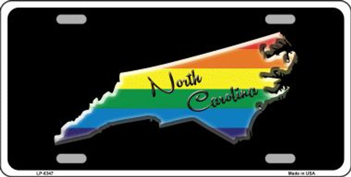 North Carolina Rainbow Wholesale Metal Novelty License Plate LP-6347