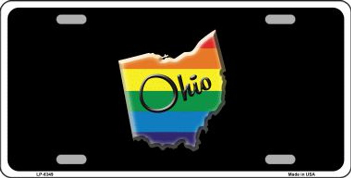 Ohio Rainbow Wholesale Metal Novelty License Plate LP-6349