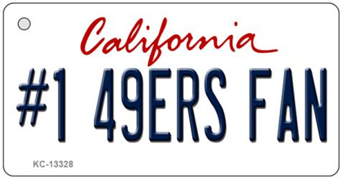 Number 1 49ers Fan Wholesale Novelty Metal Key Chain KC-13328