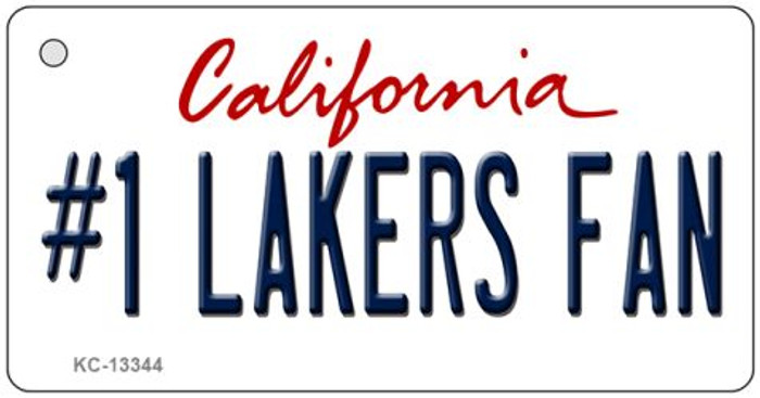 Number 1 Lakers Fan Wholesale Novelty Metal Key Chain KC-13344