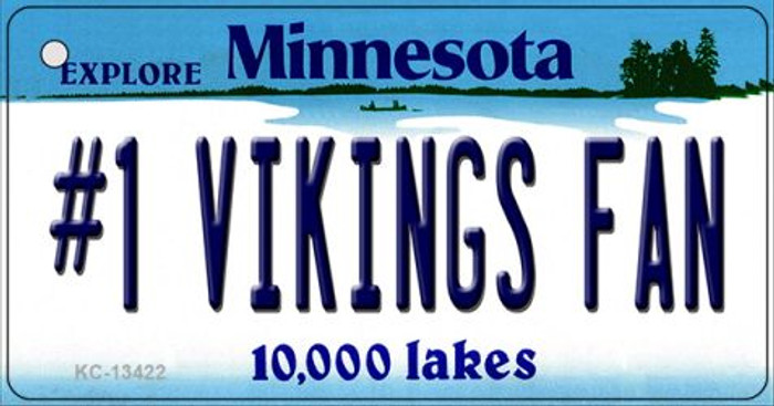 Number 1 Vikings Fan Wholesale Novelty Metal Key Chain KC-13422