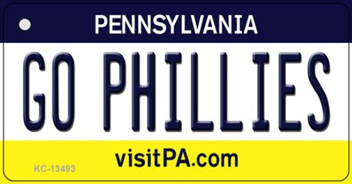 Go Phillies Wholesale Novelty Metal Key Chain KC-13493