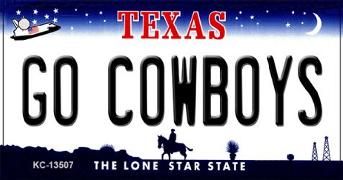 Go Cowboys Wholesale Novelty Metal Key Chain KC-13507