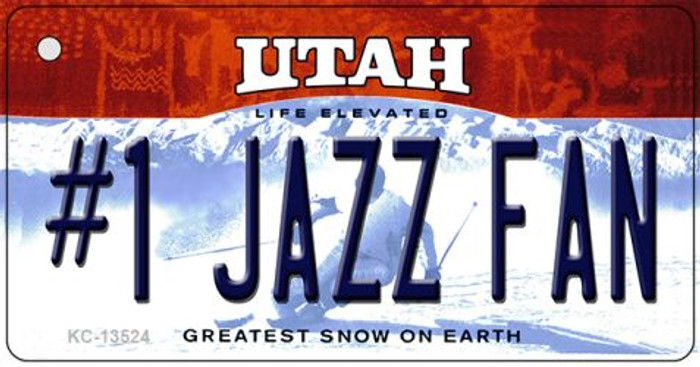 Number 1 Jazz Fan Wholesale Novelty Metal Key Chain KC-13524