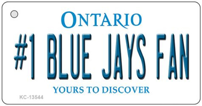 Number 1 Blue Jays Fan Wholesale Novelty Metal Key Chain KC-13544