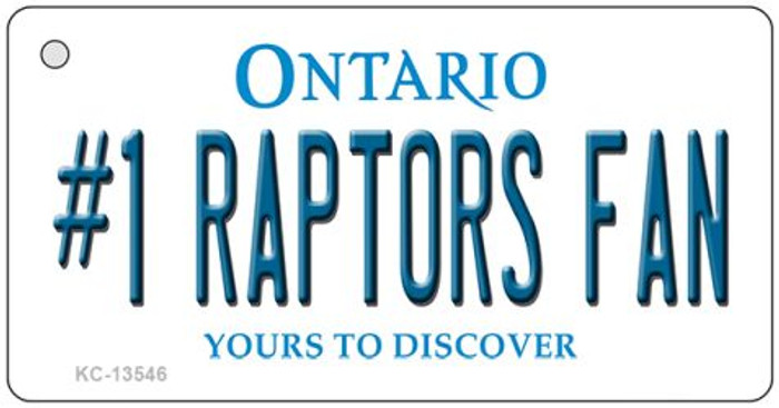 Number 1 Raptors Fan Wholesale Novelty Metal Key Chain KC-13546