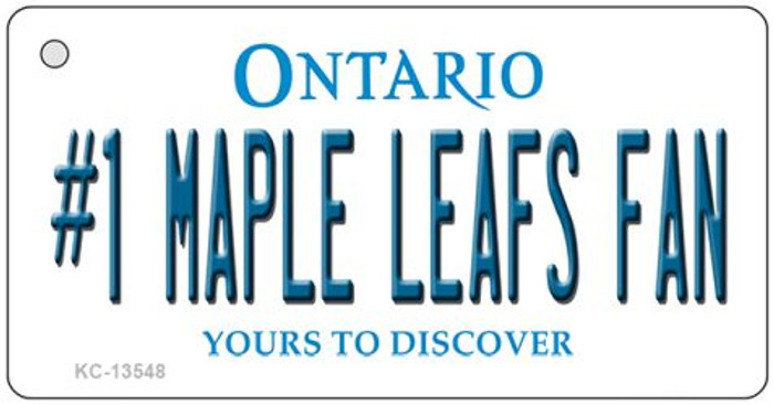 Number 1 Maple Leafs Fan Wholesale Novelty Metal Key Chain KC-13548