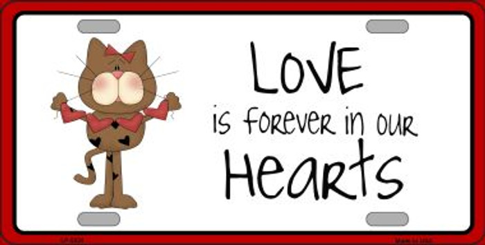 Love In Our Hearts Cat Wholesale Metal Novelty License Plate