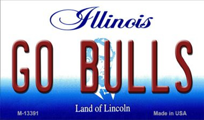 Go Bulls Wholesale Novelty Metal Magnet M-13391