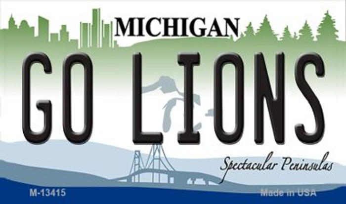 Go Lions Wholesale Novelty Metal Magnet M-13415