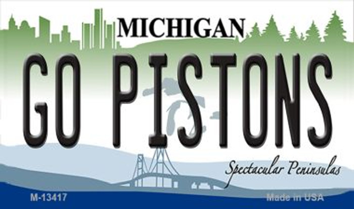 Go Pistons Wholesale Novelty Metal Magnet M-134117