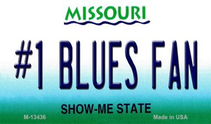 Number 1 Blues Fan Wholesale Novelty Metal Magnet M-13436