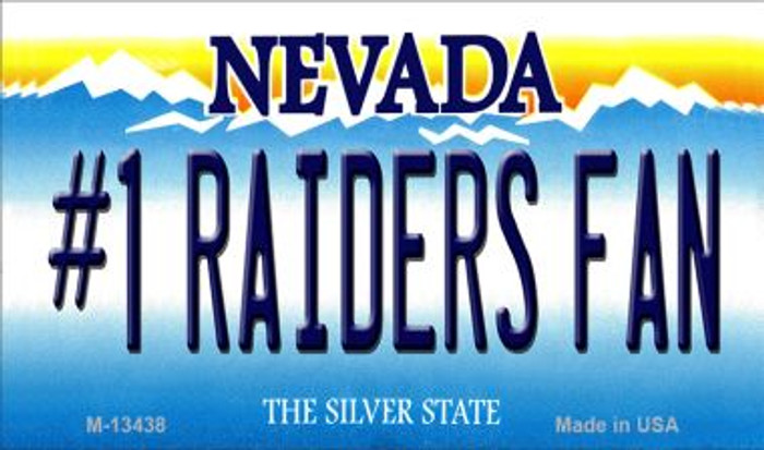 Number 1 Raiders Fan Wholesale Novelty Metal Magnet M-13438