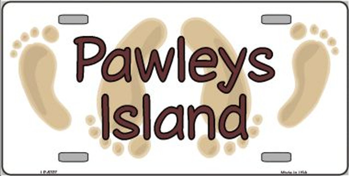 Pawleys Island Footprints Wholesale Metal Novelty License Plate LP-5337