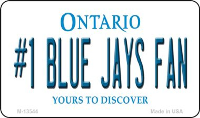 Number 1 Blue Jays Fan Wholesale Novelty Metal Magnet M-13544
