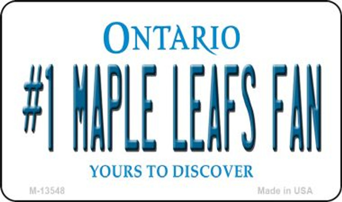 Number 1 Maple Leafs Fan Wholesale Novelty Metal Magnet M-13548