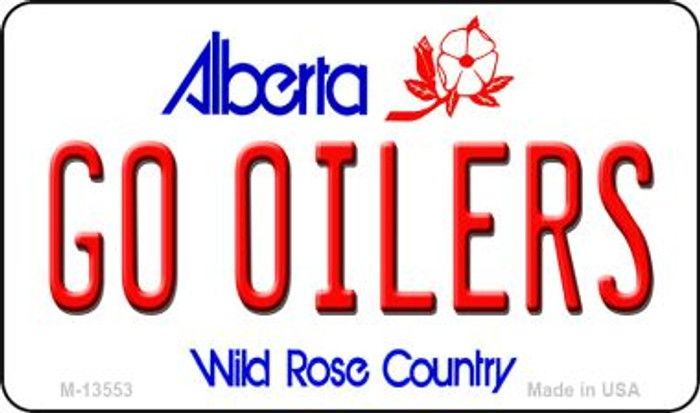 Go Oilers Wholesale Novelty Metal Magnet M-13553