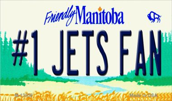 Number 1 Jets Fan Wholesale Novelty Metal Magnet M-13558