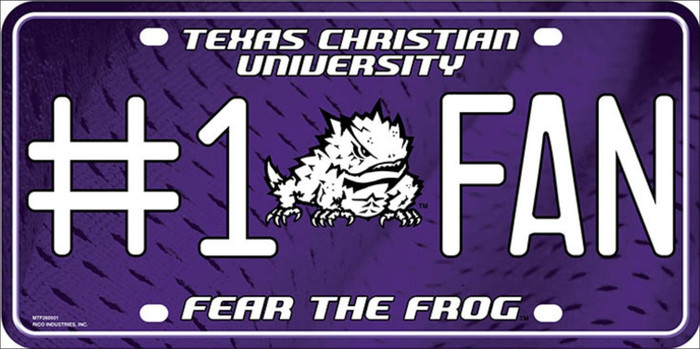 Texas Christian Fan Deluxe Wholesale Metal Novelty License Plate