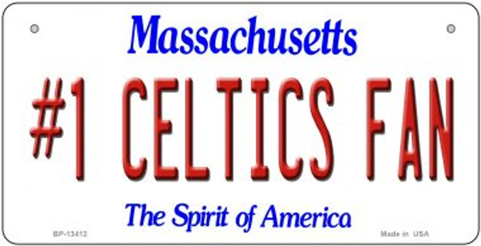 Number 1 Celtics Fan Wholesale Novelty Metal Bicycle Plate BP-13412