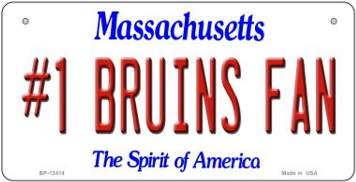 Number 1 Bruins Fan Wholesale Novelty Metal Bicycle Plate BP-13414