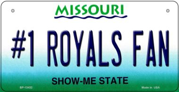 Number 1 Royals Fan Wholesale Novelty Metal Bicycle Plate BP-13432
