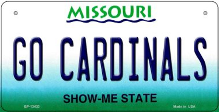Go Cardinals Wholesale Novelty Metal Bicycle Plate BP-13433