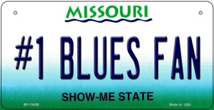 Number 1 Blues Fan Wholesale Novelty Metal Bicycle Plate BP-13436