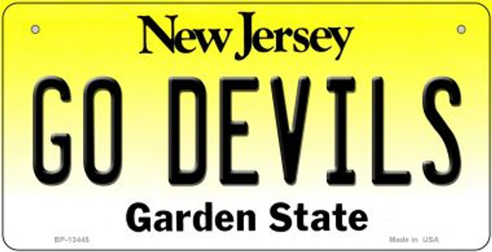 Go Devils Wholesale Novelty Metal Bicycle Plate BP-13445