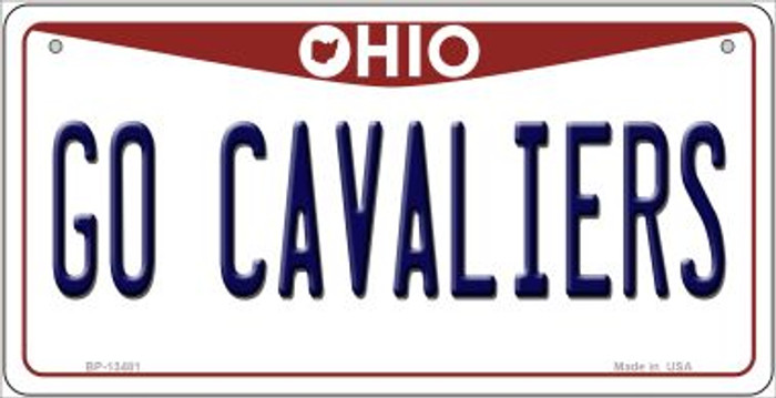 Go Cavaliers Wholesale Novelty Metal Bicycle Plate BP-13481