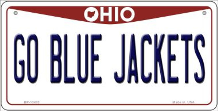 Go Blue Jackets Wholesale Novelty Metal Bicycle Plate BP-13483