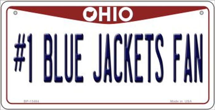 Number 1 Blue Jackets Fan Wholesale Novelty Metal Bicycle Plate BP-13484